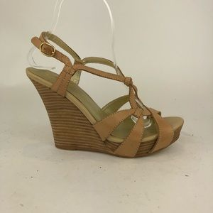 Seychelles Leather Slingback Strappy Wedge